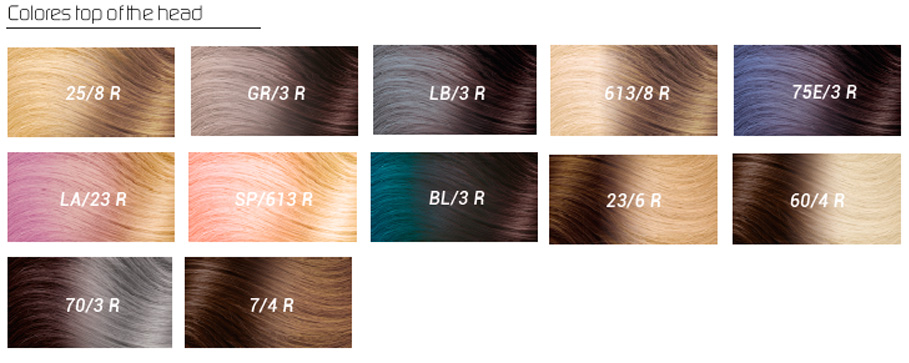 colores extensiones hairtalk top of the head