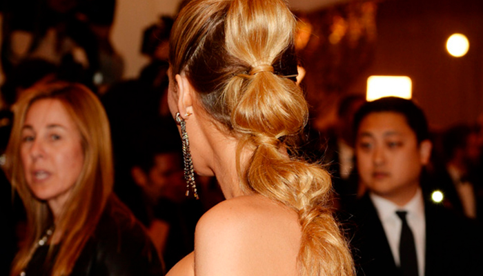 blake lively bubble ponytail