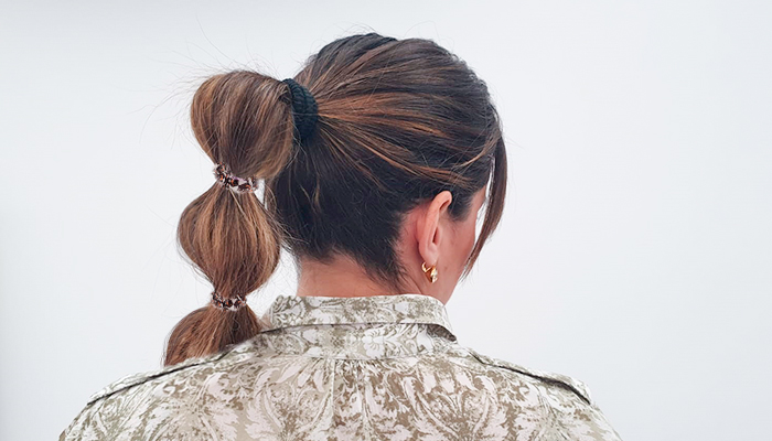 bubble ponytail peinado bodas 2019