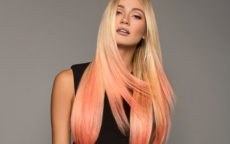 peach cobbler con extensiones adhesivas hairtalk