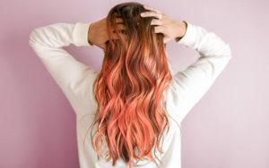 peach cobbler hair