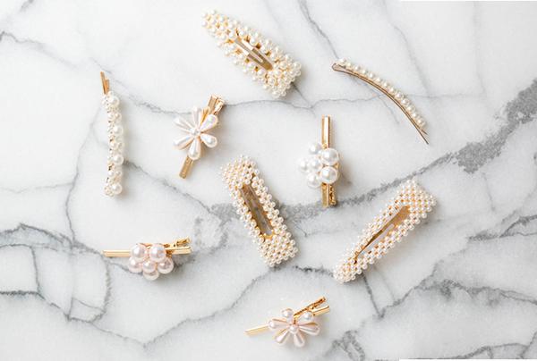 horquillas perlas para el pelo