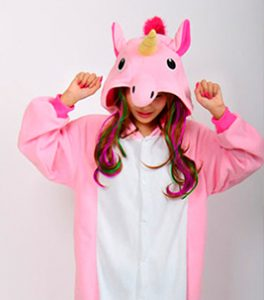 disfraz unicornio extensiones de pelo