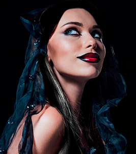 disfraz vampiresa extensiones de pelo